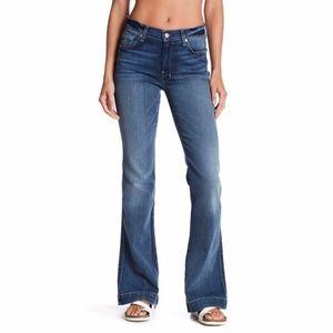 7FAMK Medium Wash Slim Trouser Jean